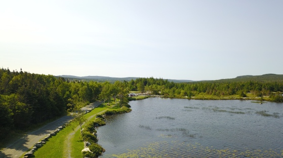Aerial shot of the Goose Pond Eco Trail